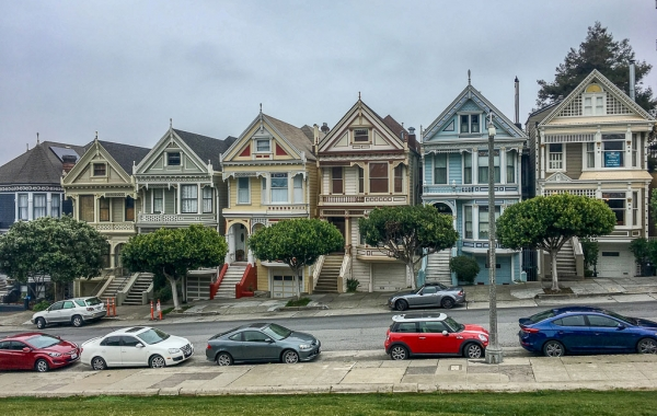 Le Painted Ladies, case vittoriane di Alamo Squadre a San Francisco