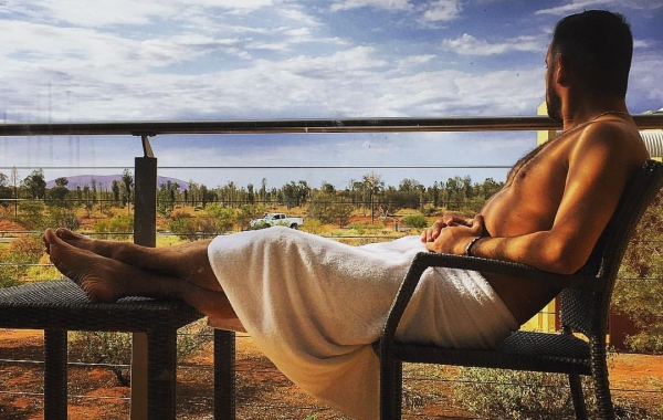 Relax al cospetto dell'immenso outback australiano