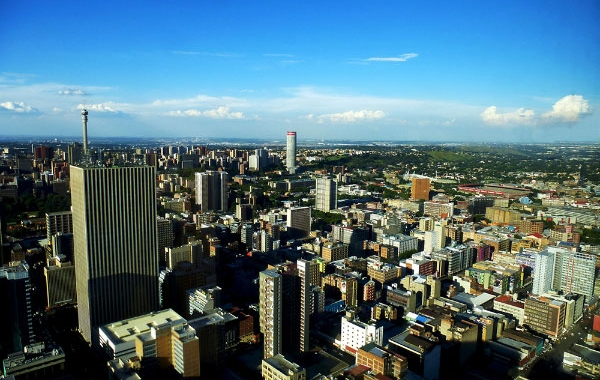 Vista di Johannesburg dal Top of Africa