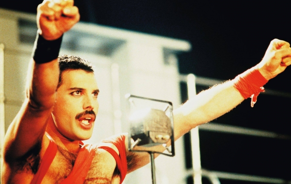 Freddie Mercury on the Stage